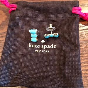 Kate Spade Bow Earrings Turquoise